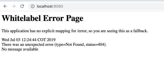 localhost 404 error page